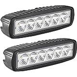 LED Light Bar, Northpole Light 2 x 18W Spot Work Light Strip, Jeep Off-road Light Bar, Driving Fog Lights IP67 Waterproof for Off-road, Truck, Car, ATV, SUV, Jeep