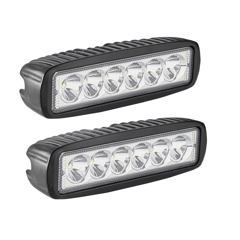 Amazon.com: LED Light Bar, Northpole Light 2x 18W Spot Work Light ...