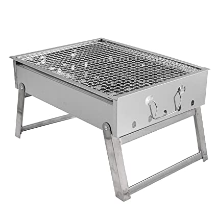 Ad Fresh Stainless Steel Portable Folding Charcoal Stove Barbecue Oven Cooking Picnic Camping BBQ Grill