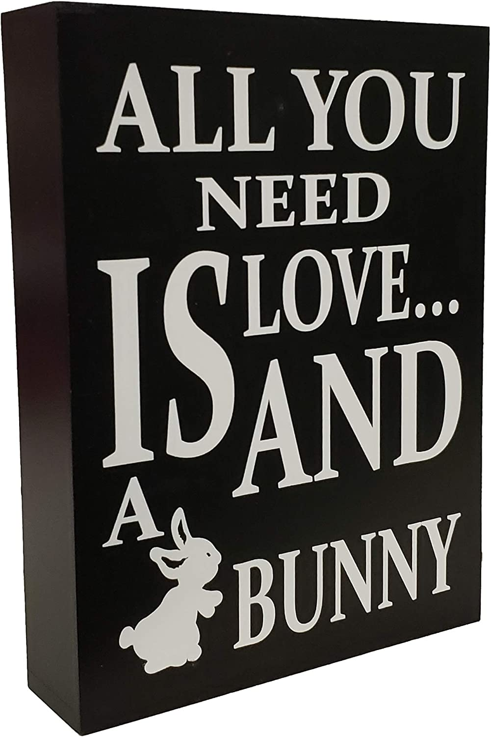 JennyGems - All You Need Is Love and a Bunny - Bunny Sign - Bunny Moms - Gifts for Bunny Moms - Rabbit Decor - Wood Sign