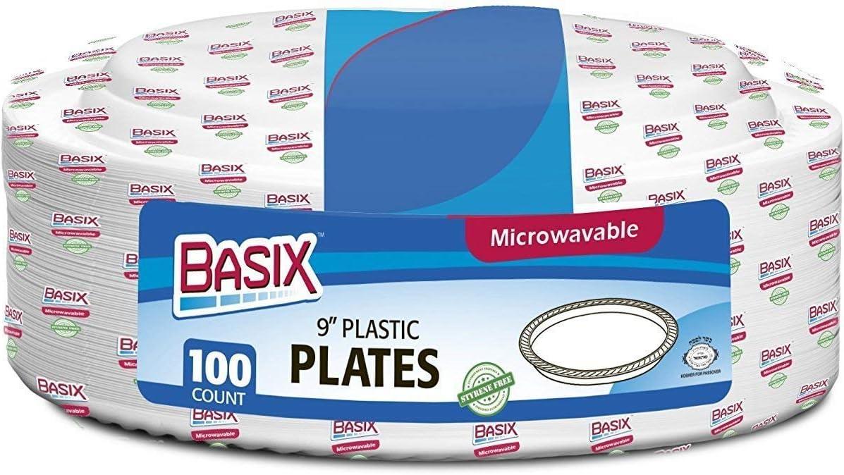 Basix desechables de platos de plástico/rígida, extra estable ...