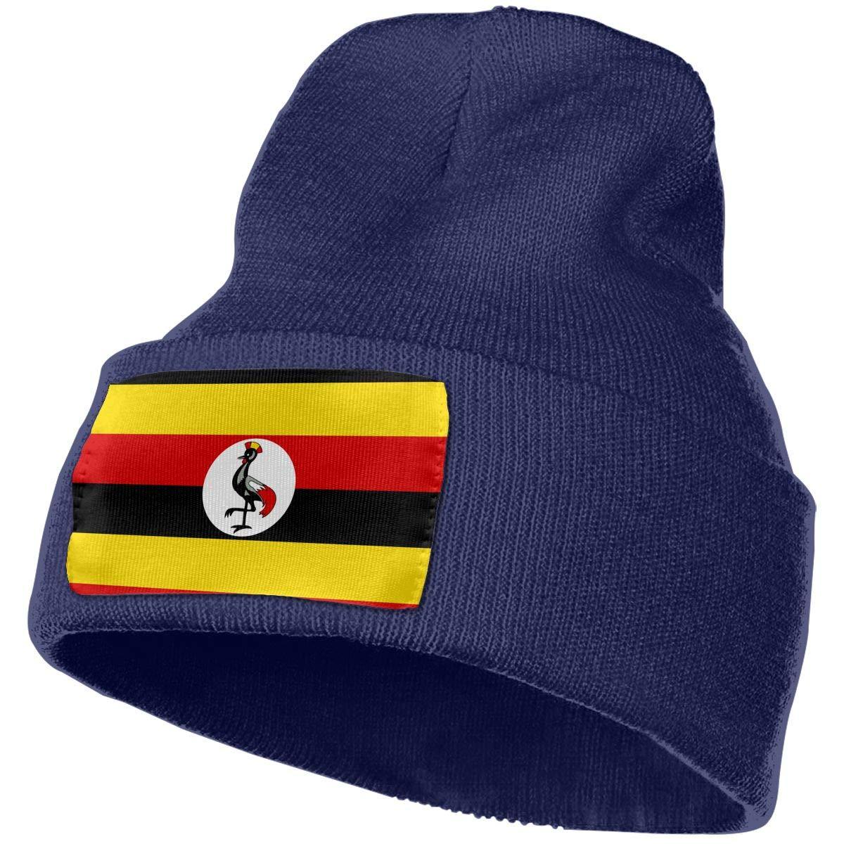 Flag of Uganda DFKD JKFD Unisex 3D Knitted Hat Skull Hat Beanie Cap