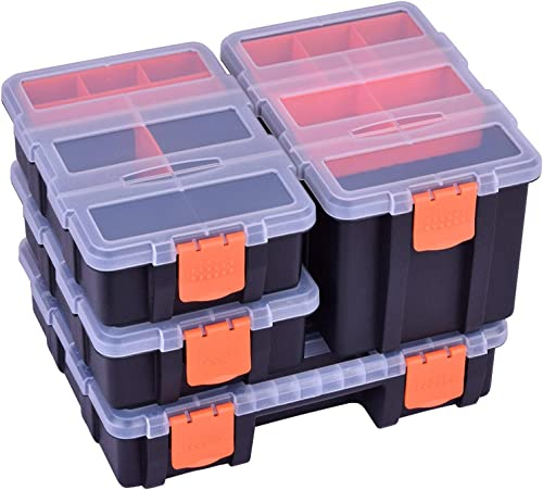 Tool Organizer Tackle Box Storage, Versatile and Durable Toolbox for Small Parts Screw Hardware