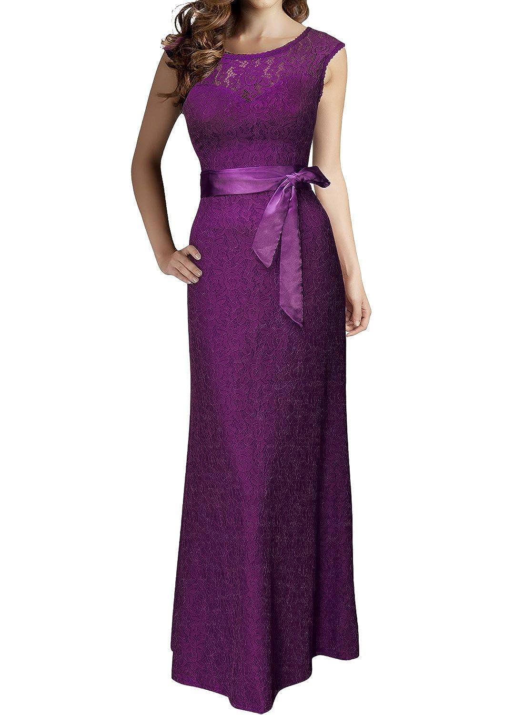 Miusol - Vestido de fiesta para mujer (espalda descubierta, largo ...