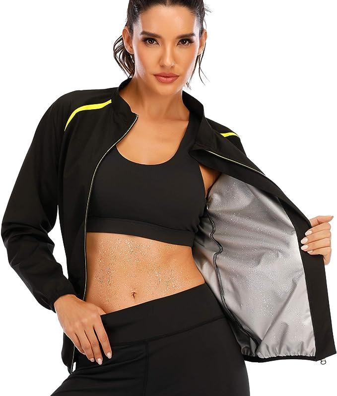 Details about  /Women Sport Sauna Vest Sleeves Tops Gym Hot Sweat Suit Weight Loss Shaper Shirt