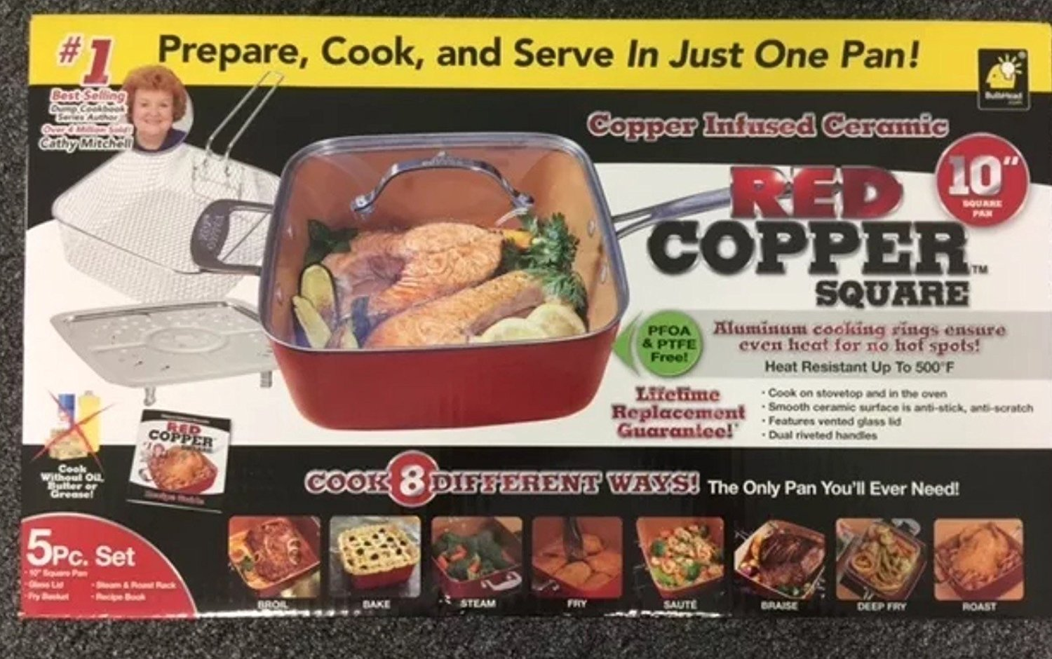 Red-Copper-piece-Cookware-Set