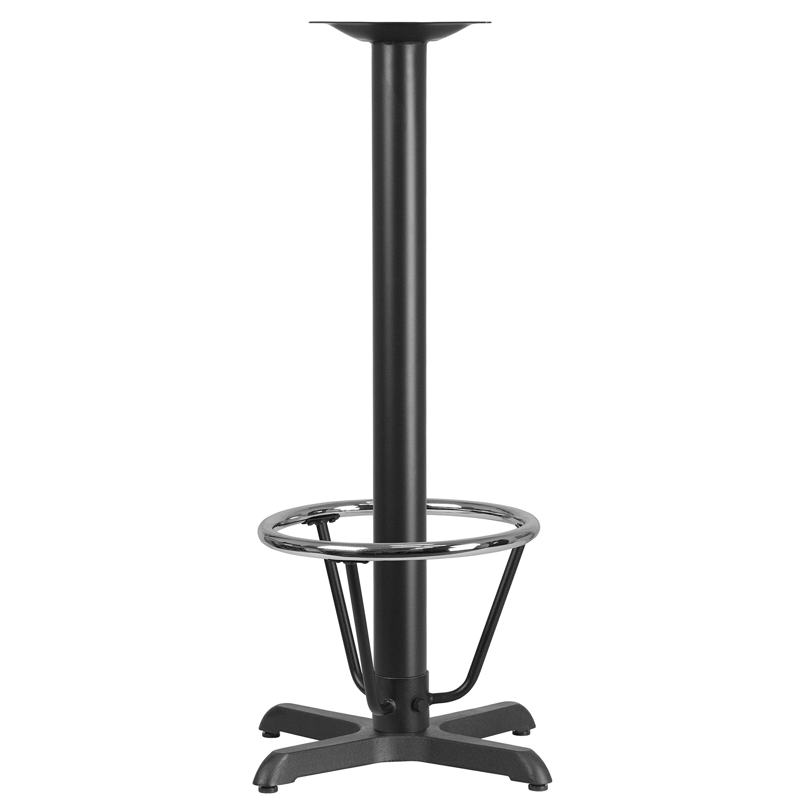 Flash Furniture 22'' x 22'' Restaurant Table X-Base with 3'' Dia. Bar Height Column and Foot Ring