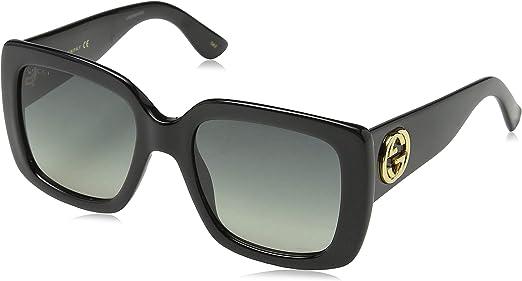 Gucci Sonnenbrille GG0141S-001-53 Gafas de sol, Negro (Schwarz), 53.0 para Mujer