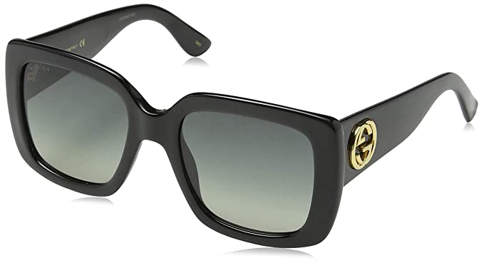 Gucci GG0141S 001 Gafas de sol, Negro (Black/Grey), 53 para Mujer