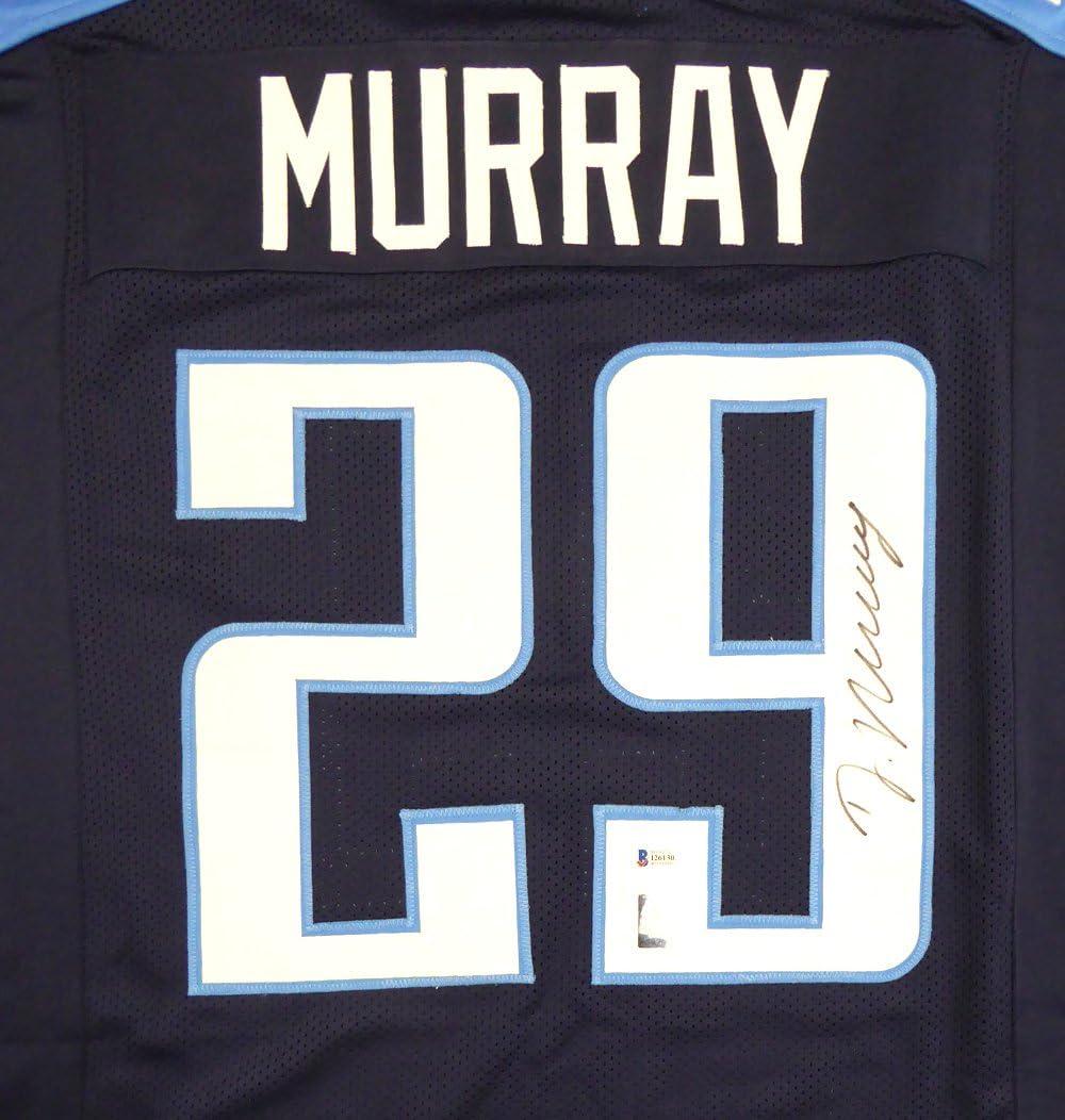 Amazon.com: Titans DeMarco Murray Autographed Blue Jersey ...