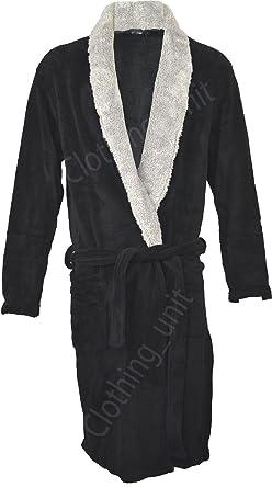 8c42bd9007 Mens Sherpa Bathrobe Fleece Supersoft Dressing Gown Robe Warm Winter Gift  (M L