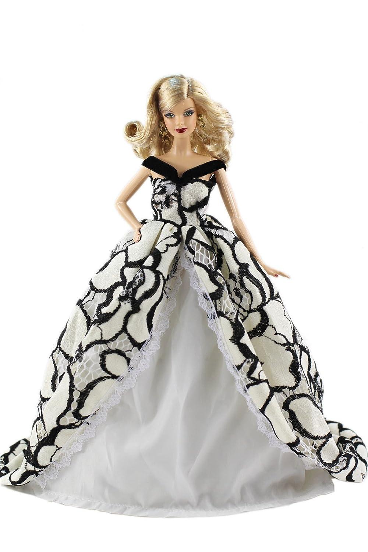 HongShun Dress Fashion Princess Evening Party Princess Dress Gown Party for 28cm Barbie Doll B01CLFRHXY, 大きいサイズの洋服店浅草チドリ屋:6dc0bfbe --- verkokajak.se
