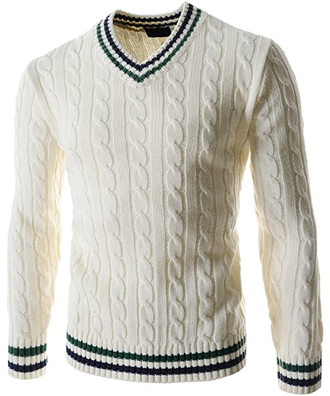 Edwardian Men's Shirts & Sweaters Fruit nut Mens V-Neck Sweater Pull-over with Tipping  AT vintagedancer.com