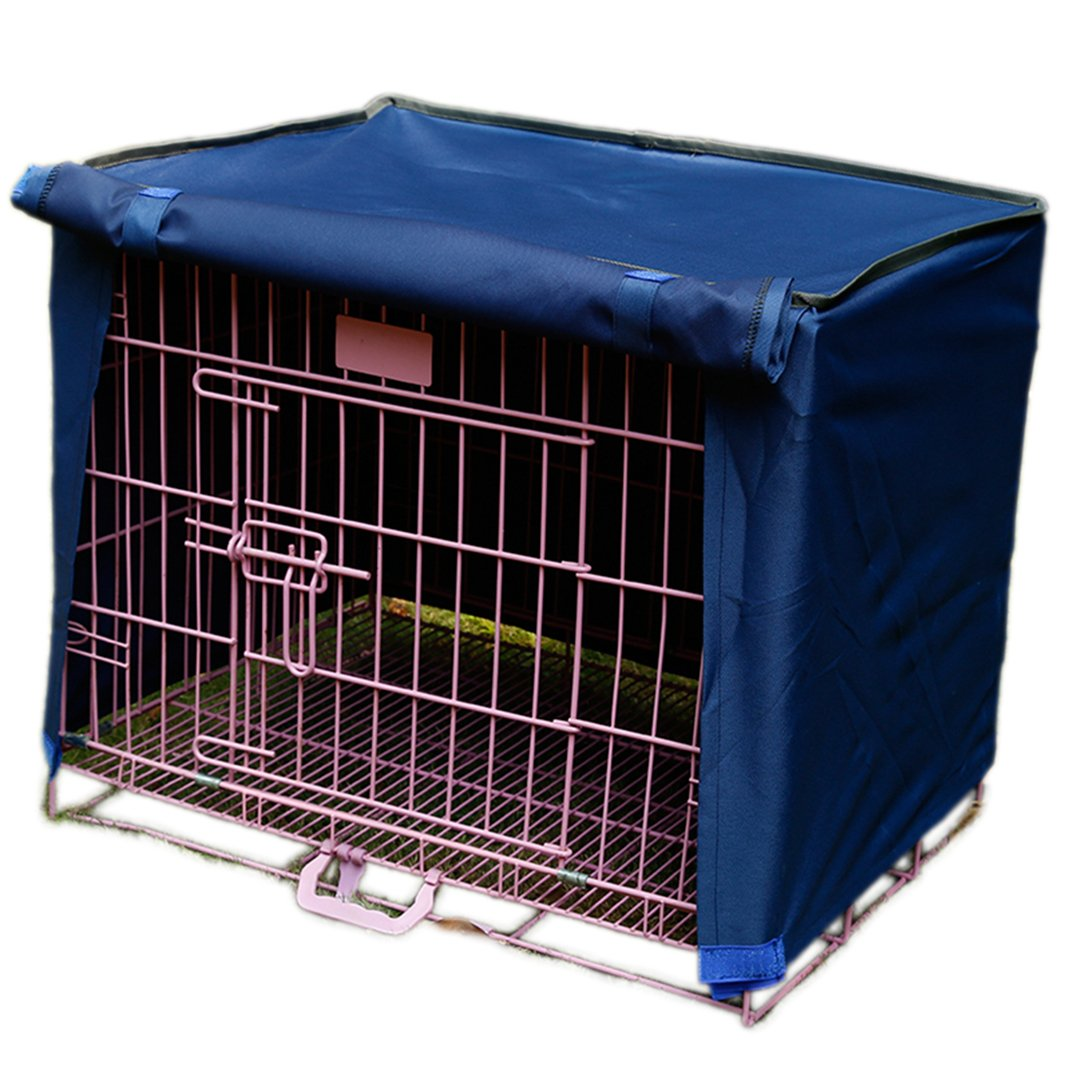 Dog Pet Wire Kennel Crate Cage Cover House Cover Blue S