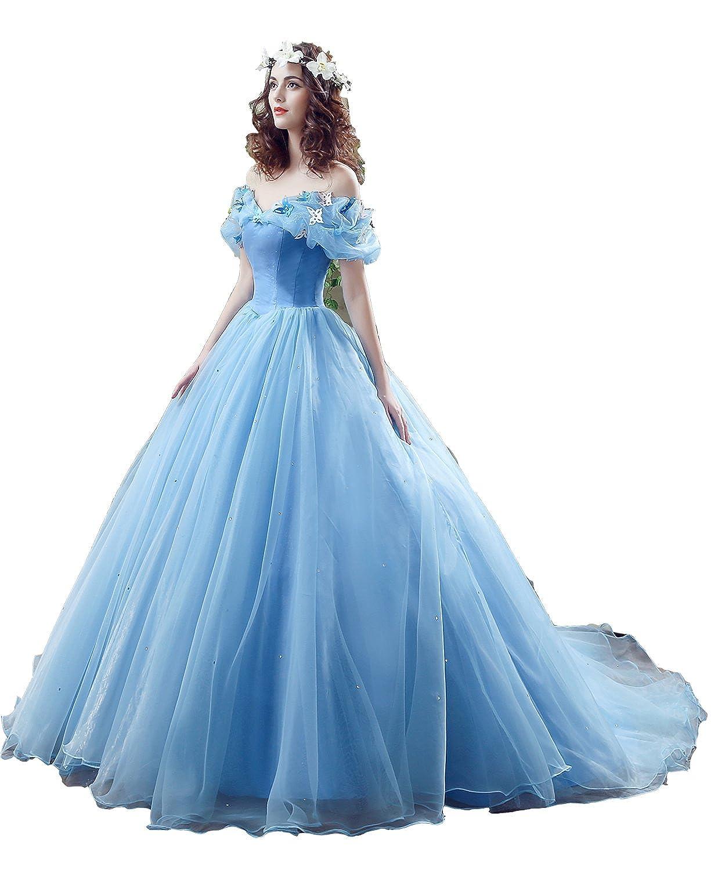 Ruisha Women\'s New Movie Deluxe Adult Cinderella Wedding Dresses ...