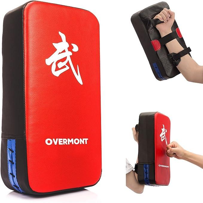 Red Akozon Taekwondo Kick Pad MMA Mitts Pad PU Kick Punching Training Glove Target Kicking Shield Train Tool