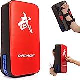 Overmont Taekwondo Kick Pads Boxing Karate Pad PU Leather Muay Thai MMA Martial Art Kickboxing Punch Mitts Punching Bag…