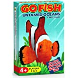 Arizona GameCo Go Fish Untamed Oceans - Go Fish, Old Maid, Slap Jack and War - Play 4 Classic Card Games for Kids with 1 Sing