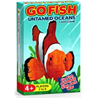 Arizona GameCo Go Fish Untamed Oceans - Go Fish, Old Maid, Slap Jack and War - Play 4 Classic Card Games for Kids with 1…