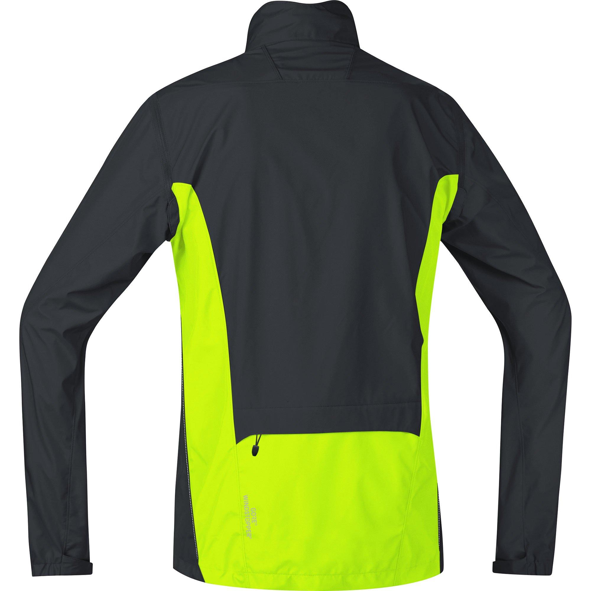 Gore Bike WEAR Men's Cycling Jacket, Super Light, Gore Windstopper, Jacket, Size: S, Black/Neon Yellow, JWELMZ by GORE WEAR (Image #2)