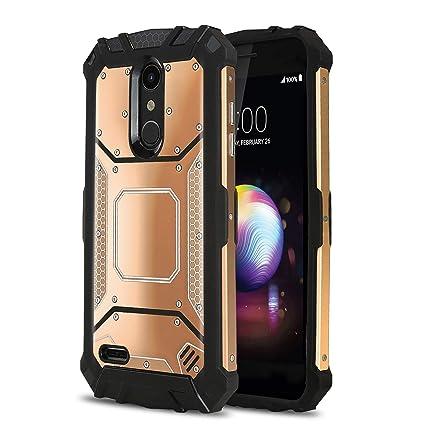 Phone Case for [LG Premier PRO (L413DL,L414DL)], [Alloy Series][Rose Gold]  Aluminium [Metal Plate] Military Grade Cover for LG Premier Pro LTE