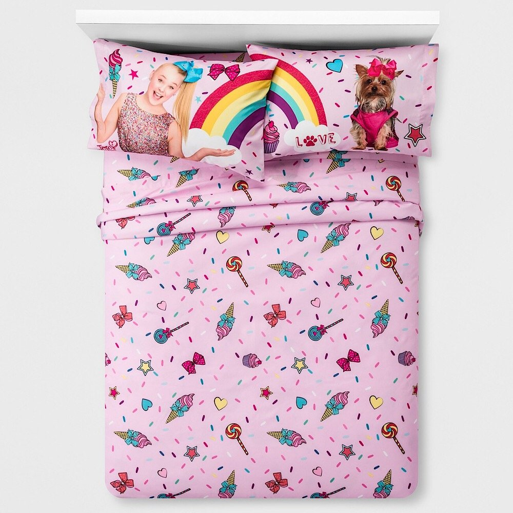 Nickelodeon Jojo Siwa Girls Full Bedding Sheet Set Jojo Siwa Kids