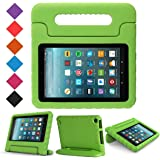 BMOUO Case for All 7 2017 - Light Weight Shock Proof Handle Kid-Proof Cover Kids Case for All 7 Tablet (7th Generation, 2017 Release), Green
