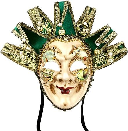 Máscara veneciana de bufón, estilo vintage para disfraz de ...