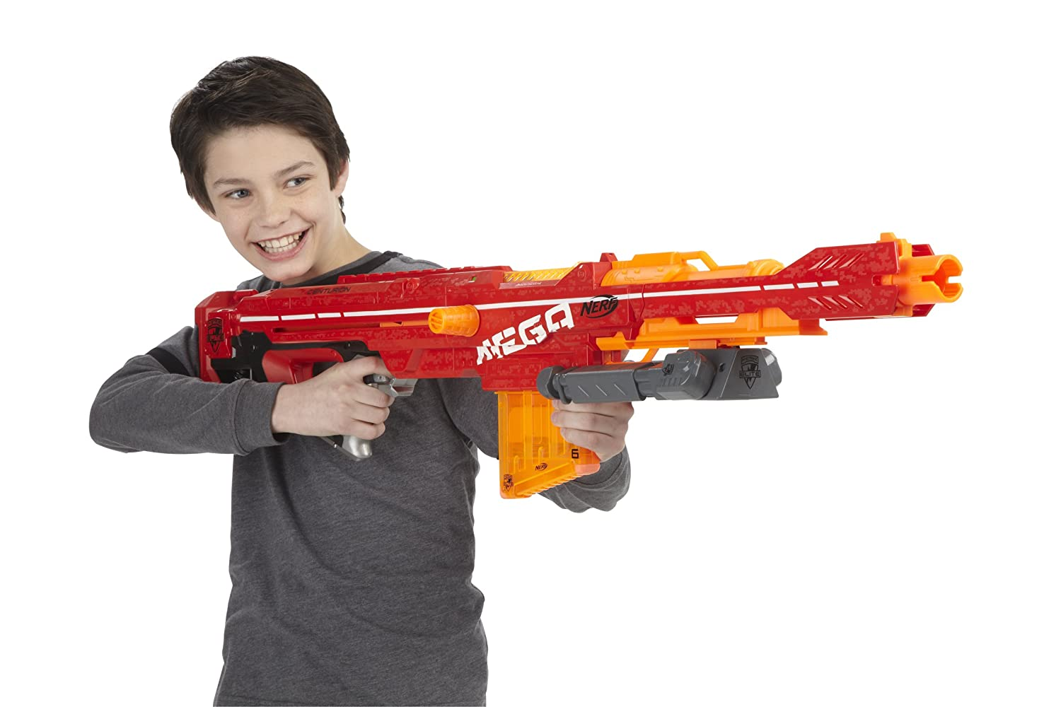 Nerf Gun Mega Elite Centurion With Bipod and Bullets Gun