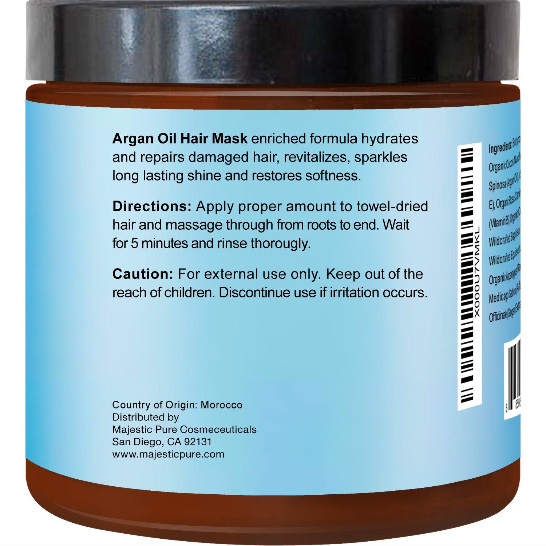 Amazon Com Majestic Pure Argan Oil Hair Mask Hydrating