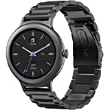 Oitom Premium Stainless Steel Watch Band Strap for LG WATCH STYLE Smart Fitness Watch(Black)