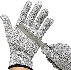 Fatmingo Cut Resistant Gloves, High Performance Level 5 Protection Food Grade Kitchen Glove for Hand