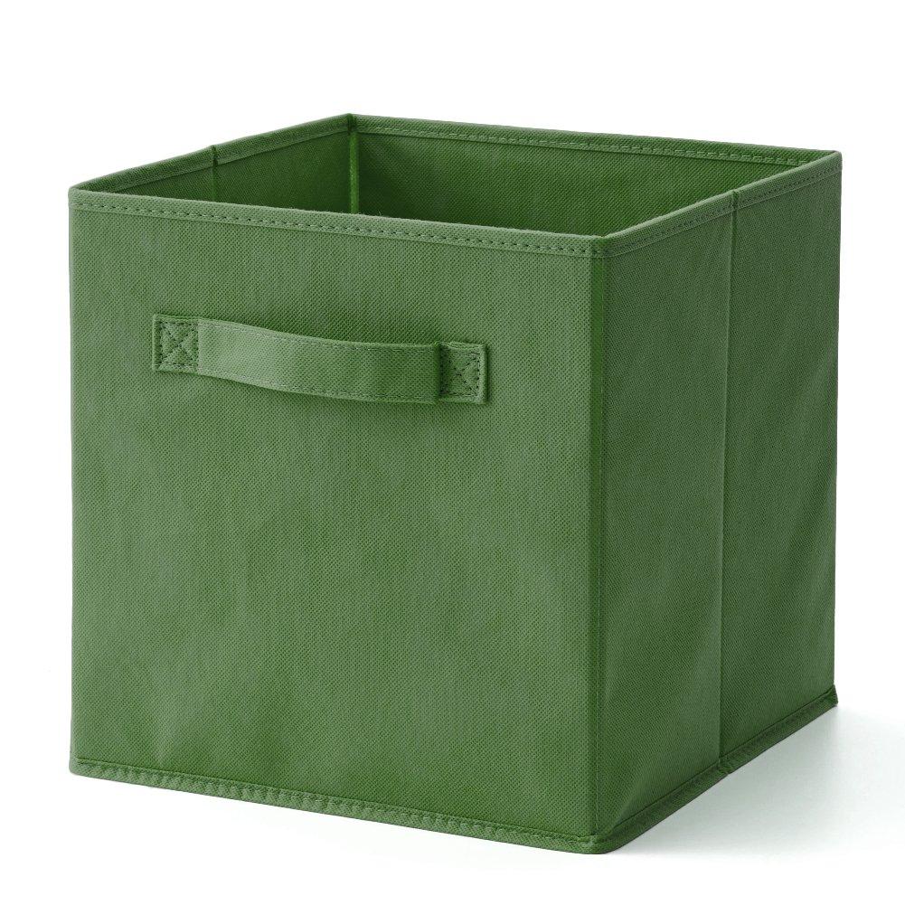 EZOWare Caja de Almacenaje con 6 pcs, Set de 6 Cajas de juguetes, Caja de Tela para Almacenaje, Kale Green: Amazon.es: Hogar