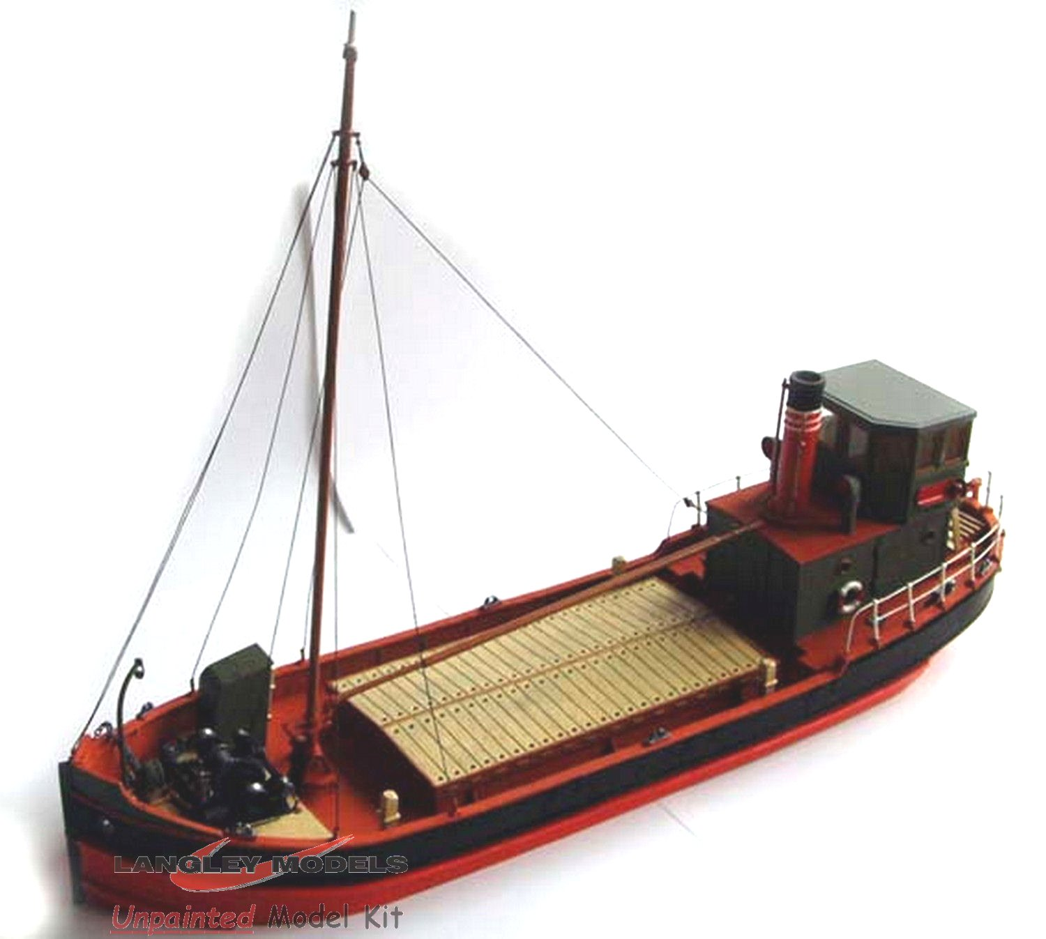 Langley Models 67ft Clyde Puffer Full Hull O Scale UNPAINTED Kit ...