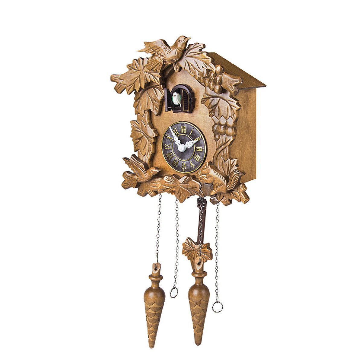 Kendal Handcrafted Wood Cuckoo Clock by Kendal