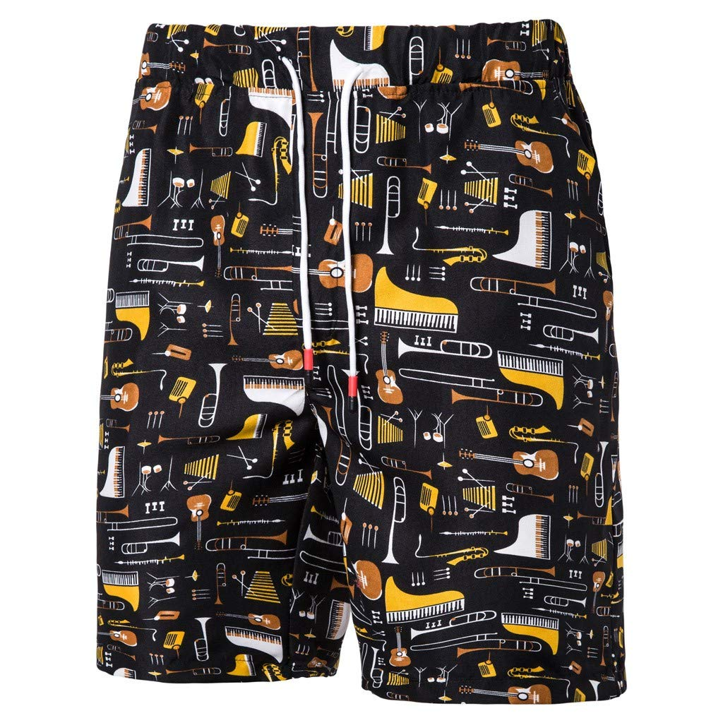 TR2YU7YT Thin Blue Line Casual Mens Swim Trunks Quick Dry Printed Beach Shorts Summer Boardshorts Bathing Suits with Mesh Lining