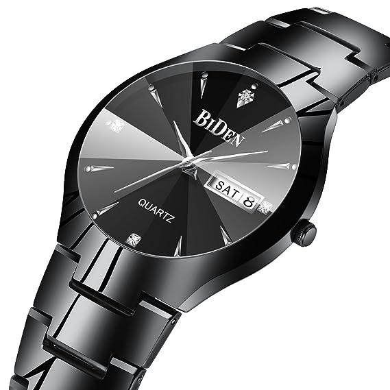 Para hombre Simple funda relojes hombres 30 m impermeable FECHA calendario  analógico reloj de cuarzo de 050d68403e47