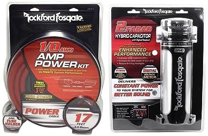Amazon Rockford Fosgate RFK1 1 0 Gauge OFC Amp Kit RFC2D 2