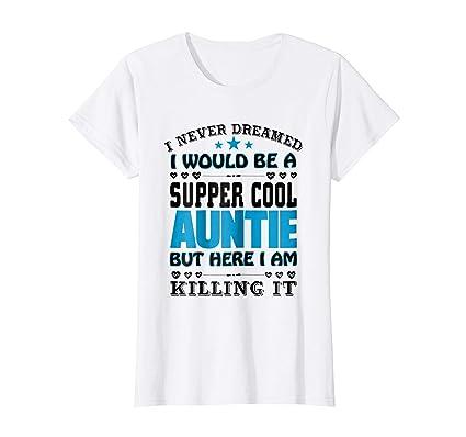 dc7f37863 Kids Cool Auntie T-Shirt Super Cool Aunt 10 Lemon: Amazon.co.uk: Clothing