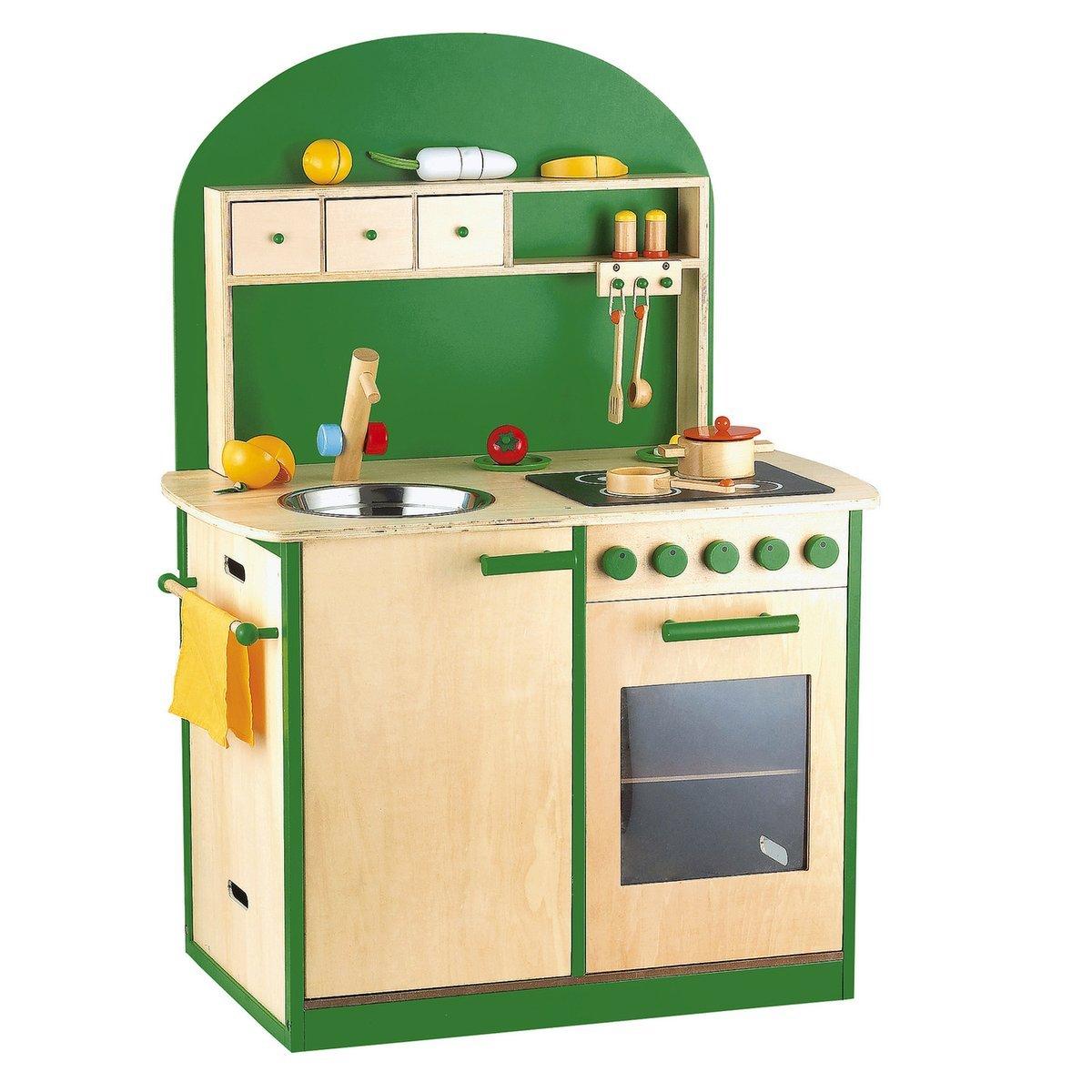 Kinderküche, Sun, Spielküche aus Holz, Holz, Holz, grün dd800b