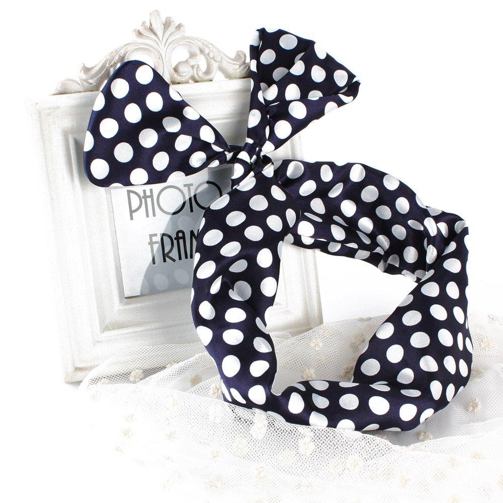 Amazon.com : YESURPRISE 10pcs Hair Tie Polka Dot Stripe Ribbon ...