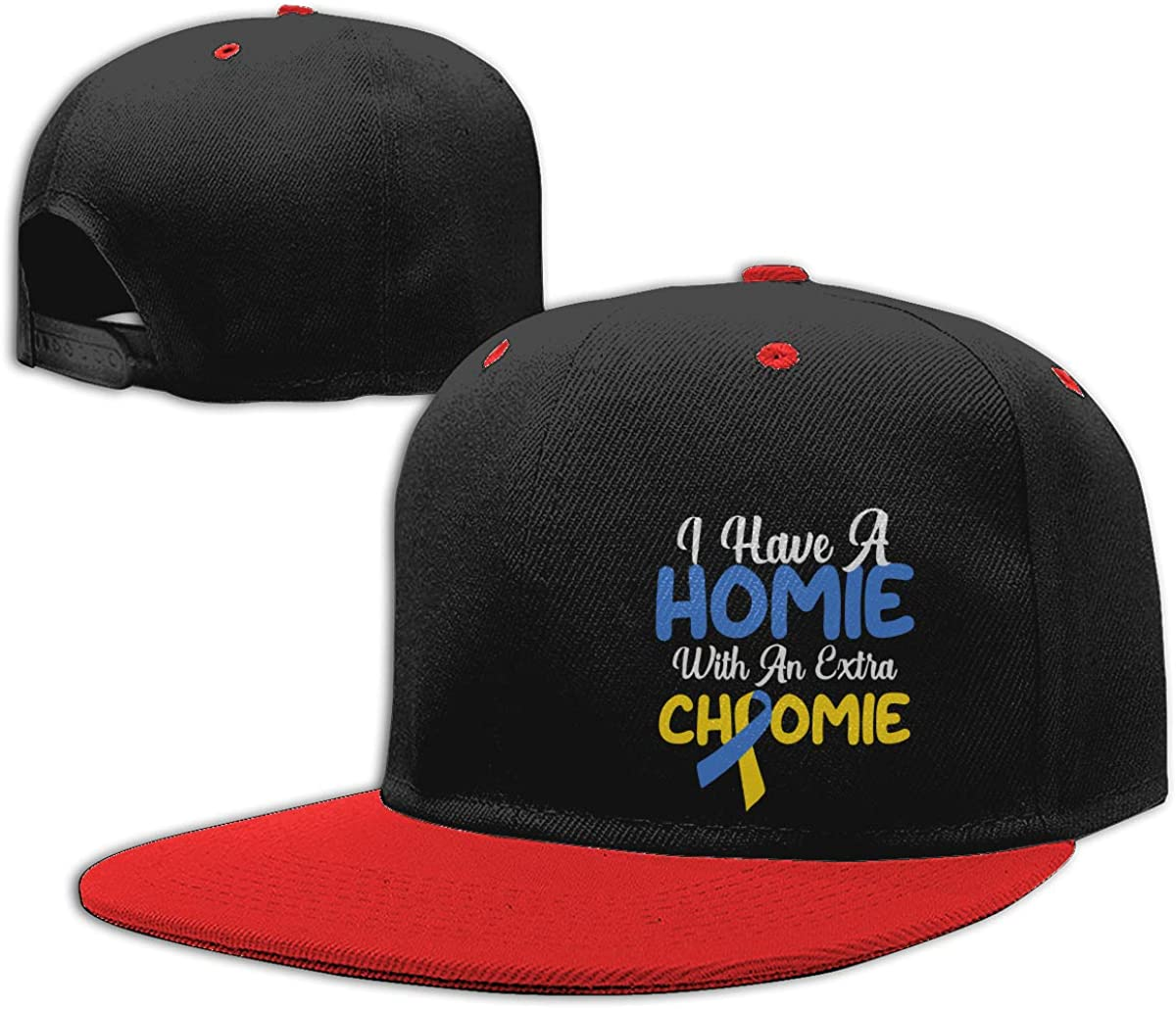 Men Womens Punk Rock Cap Down Syndrome Unisex Hip Hop Baseball Caps