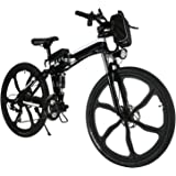 "Pro Folding 500W 26"" Speed Electric Power Mountain Bicycle with Large Lithium-Ion Battery (US STOCK)"