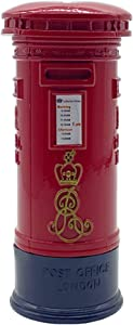 Cafurty Coin Bank, Metal Britain London Street Red Mailbox Piggy Bank Postbox Money Box for Decoration or Gift - 6.5