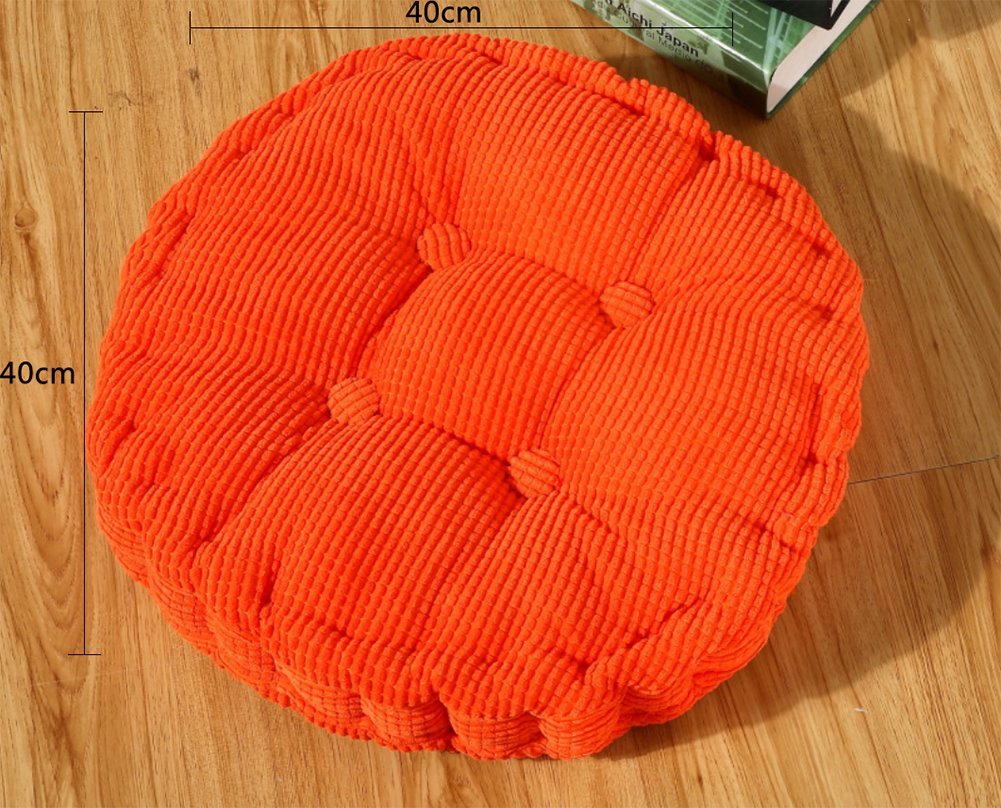 Leisial Round Shape Chair Pads Cushions for Home Kitchen Office or Car Seats Corduroy Tatami Cushions Grey