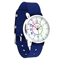 EasyRead time teacher ERW-COL-PT-NB Watch Rainbow Past To, Navy Blue Strap
