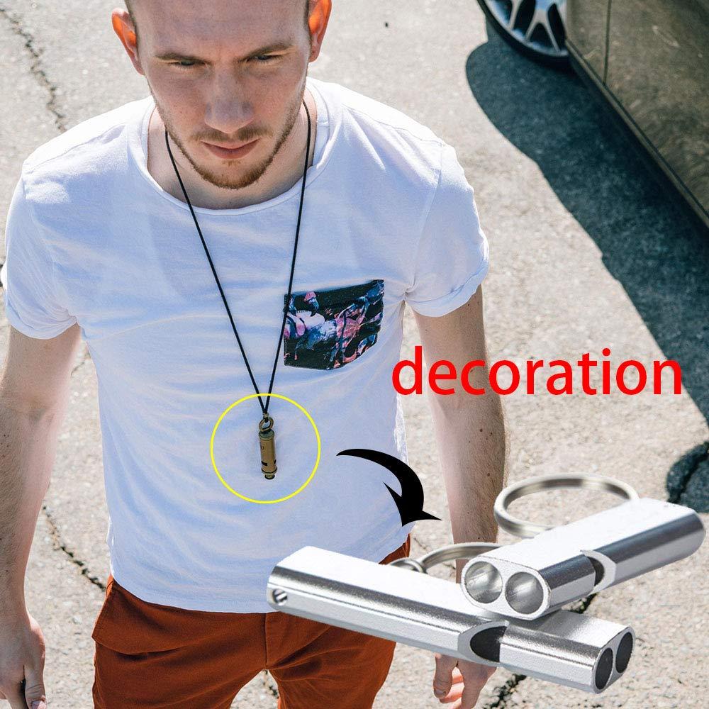 Hohe Dekoration GAOYI Edelstahl R/öhren-Set Survival f/ür Den Au/ßenbereich