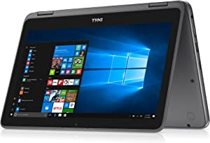 "2018 Flagship Dell Inspiron 11.6"" Business 2 in 1 HD Touchscreen Laptop/Tablet - AMD Dual-Core A9-9420e 8GB DDR4 128GB SSD AMD Radeon R5 MaxxAudio Bluetooth 802.11bgn HDMI HD Webcam USB 3.1 Windows 10"
