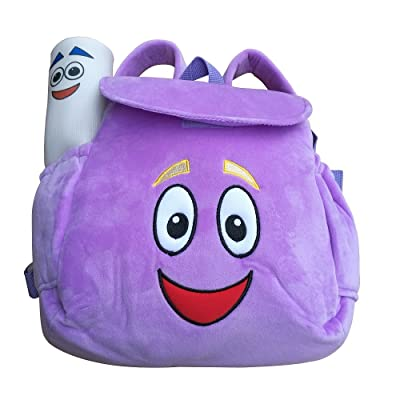 IGBBLOVE Dora Explorer Soft Plush Backpack Rescue Bag, Purple: Toys & Games