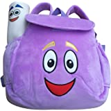 IGBBLOVE Dora Explorer Soft Plush Backpack Rescue Bag, Purple